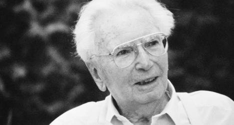 Portr‰t Viktor Frankl. Photographie. 1994 Portrait of austrian psychologist Viktor Frankl. Photograph. 1994.