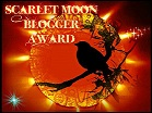 THE SCARLET MOON BLOGGER AWARD.